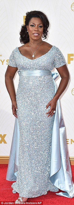 Standing out: Orange Is The New Black beauty Danielle Brooks wowed in an azure blue dress, GoT star Sophie Turner opted for understated evening glam and Selma starLorraine Toussaint sparkled