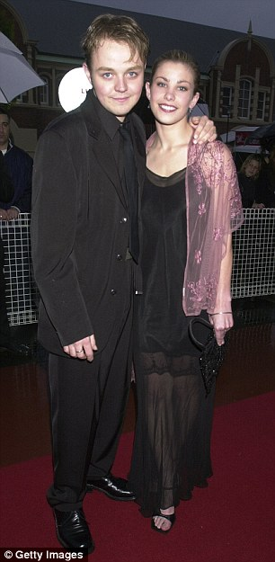 The actor with his former girlfriend Brooke Satchwell