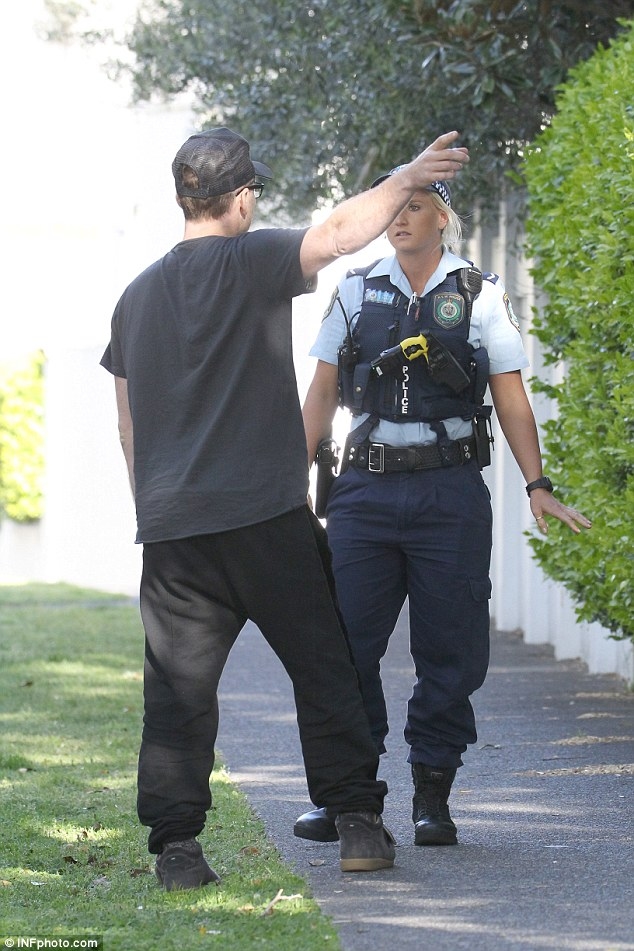 Aggravated: The actor eventually called the police after taking photographs of the paparazzi's licence plates