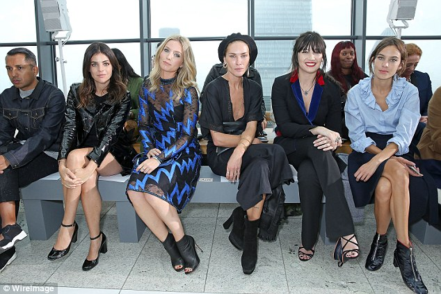 Classic style: Julia Restoin Roitfield, Annabelle Wallis, Audrey Marnay, Daisy Lowe and Alexa Chung looked incredible