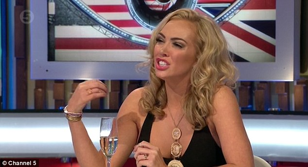 Police called: It has been reported that a champagne glass and chair were thrown prior to the broadcast being suspended for several seconds, leaving viewers watching a static CBB graphic