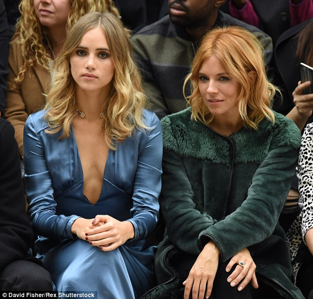 Best friends Suki Waterhouse and Sienna Miller looked chic on the front row at the show
