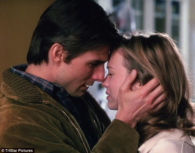 Like a movie romance: Cryer said it was 'a Jerry Maguire thing' referring to the scene in the 1996 movie where Tom Cruise tells Renee Zellwegger: 'You complete me'