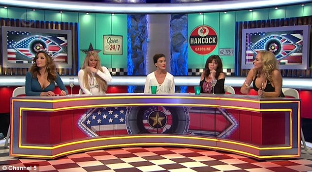 Injured: The panel show was brought to a standstill following an 'incident', which insiders claim left co-panelist and 'Allo 'Allo actress Vicki Michelle receiving medical attention