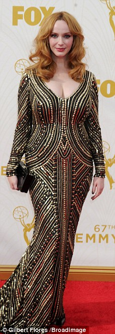 Shimmering:Sofia Vergara, Kerry Washington, Christina Hendricks and Claire Danes brought the glitter at the 67th Primetime Emmy Awards in Los Angeles on Sunday