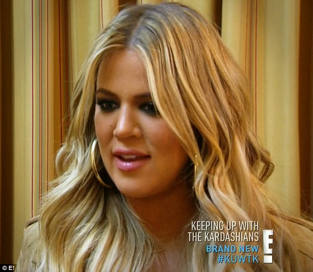 First to know: Khloe was the first to find out that Kim was pregnant again