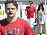 UK CLIENTS MUST CREDIT: AKM-GSI ONLY\nEXCLUSIVE: Calabasas, CA - Prince Jackson and Nikita Bess hold hands as they attend a baseball game in Calabasas.