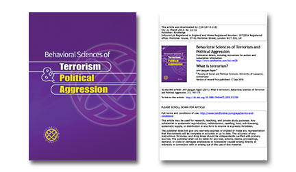 Behavioral Sciences of Terrorism and Political Aggression Vol 5 Issue 1