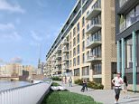 A computer generated image of a three-bedroom flats in London.    Meridian Quay ext.jpg