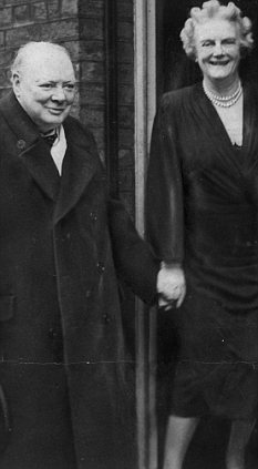 Affection: Lady Clementine Churchill once wrote to husband Winston of their children: 'They are becoming so grown up and intelligent & I look forward to the time when you come back to me'