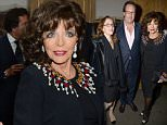 Mandatory Credit: Photo by Richard Young/REX Shutterstock (5148799q)  Katy Collins, Percy Gibson and Dame Joan Collins  David Downton 'Portraits of the World's Most Stylish Women' book launch, Claridge's, London, Britain - 22 Sep 2015
