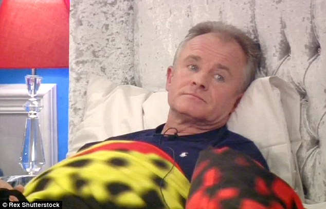 Let it go: Bobby Davro refuses to rise to the tensions when he is attacked by Farrah Abraham