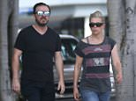 *** Fee of £150 applies for subscription clients to use images before 22.00 on 220915 *** EXCLUSIVE ALLROUNDERRicky Gervais & Jane Fallon power walk for two hours around West Hollywood. The funny man looked to be exhausted and had to stop to nurse a sore knee and rehydrate. Featuring: Ricky Gervais, Jane Fallon Where: Los Angeles, California, United States When: 21 Sep 2015 Credit: Owen Beiny/WENN.com