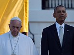 US President Barack Obama welcomes Pope Francis to the White House on September 23, 2015 in Washington,DC. President Barack Obama hosts Pope Francis at the White House for the first time Wednesday, warmly embracing the Catholic pontiff seen as both a moral authority and potent political ally.  AFP PHOTO / VINCENZO PINTOVINCENZO PINTO/AFP/Getty Images