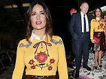 Mandatory Credit: Photo by Olycom SPA/REX Shutterstock (5158207bx)\n Francois Henri Pinault, Salma Hayek, Charlotte Casiraghi\n Gucci show, Spring Summer 2016, Milan Fashion Week, Italy - 23 Sep 2015\n \n