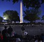 WASHINGTON, DC - SEPTEMBER 23: Spectators wait as early as 5 am along the parade route of pope Francis around the Ellipse, south of the White House, September 23, 2015  in Washington, DC. After visiting President Obama at the White House the Pope will step into his popemobile for the parade. (Photo by Astrid Riecken/Getty Images)