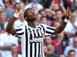 epa04940480 Juventus' French midfielder Paul Pogba celebrates after scoring the 2-0 lead from the penalty spot during the Italian Serie A soccer match between CFC Genoa 1893 and Juventus FC at Luigi Ferraris stadium in Genoa, Italy, 20 September 2015.  EPA/LUCA ZENNARO