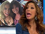 """****Ruckas Videograbs****  (01322) 861777\n*IMPORTANT* Please credit Channel 5 for this picture.\n23/09/15\nCelebrity Big Brother's Bit On The Side (2015) - last night (22/09/15), Channel 5\nSEEN HERE: Sequence of grabs leading up to last night's broadcast being suspended after it is alleged Aisleyene Horgan-Wallace threw a champagne glass at Farrah Abraham. The footage saw Farrah saying """"Hag, be quiet"""" before Aisleyne reached for her glass of Champagne. The show then was briefly suspended, with viewers left watching a CBB graphic. Host Rylan Clark then returned and said they unfortunately had to lose the panel. It is reported that panelist Vicki Michelle was injured following the incident.\n**IMPORTANT - PLEASE READ** The video grabs supplied by Ruckas Pictures always remain the copyright of the programme makers, we provide a service to purely capture and supply the images to the client, securing the copyright of the images will always remain the responsibility of the publisher at al"""