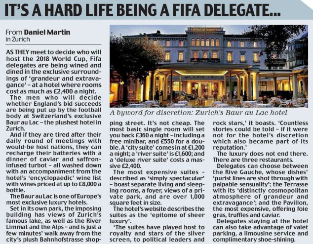 It's hard being a Fifa delegate