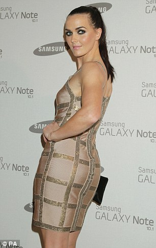 Athletic: Cycling champion Victoria Pendleton showed off her figure in a gold bodycon dress