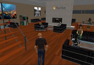 Screenshot of Second Life e-learning scenarios