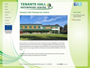 Screenshot of Tenants Hall Enterprise Centre Leeds