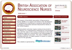 Screenshot of British Association of Neuroscience Nurses (BANN)