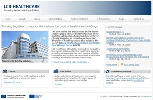Screenshot of LCB Healthcare (Low carbon Buildings)