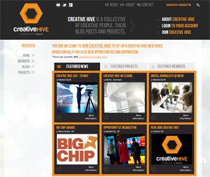Screenshot of Creative Hive