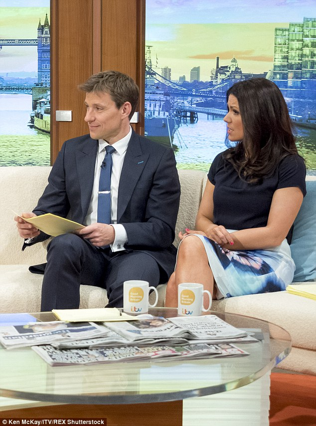In the hot seat: Susanna and her co-host Ben Shephard quizzed Protein World boss Richard Staveley on the ITV programme