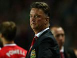 Manager Louis van Gaal of Manchester United looks on during the Capital One Cup second round match between MK Dons and Manchester United at Stadium mk on August 26, 2014 in Milton Keynes, England.  (Photo by Clive Mason/Getty Images)