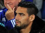 Uefa Champions League.  Chelsea v Maccabi Tel Aviv 15/09/15: Picture Kevin Quigley/solo syndication  Falcao and Pedro
