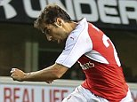 23 September 2015 - Capital One Cup (3rd Round) - Tottenham Hotpsur v Arsenal - Mathieu Flamini of Arsenal score a goal with a volley - Photo: Marc Atkins / Offside.