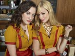 Television Programme: 2 Broke Girls with Kat Dennings as Max Black and Beth Behrs as Caroline Channing.