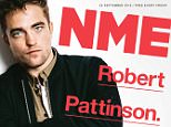 """Embargoed to 0001 Thursday September 24 Undated handout photo of the cover of NME Magazine which features an interview with Robert Pattinson who says says fame made him not go into a supermarket for six years. PRESS ASSOCIATION Photo. Issue date: Thursday September 24, 2015. The actor, who was catapulted to fame playing Edward Cullen in the movie adaptation of the popular books, told NME magazine: """"I had people sitting outside my house every single day, and it drove me crazy. See PA story SHOWBIZ Pattinson. Photo credit should read: NME magazine/PA Wire NOTE TO EDITORS: This handout photo may only be used in for editorial reporting purposes for the contemporaneous illustration of events, things or the people in the image or facts mentioned in the caption. Reuse of the picture may require further permission from the copyright holder."""