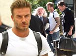 EXCLUSIVE: David Beckham with best friend Dave Gardner (Liv Tyler's boyfriend) arrive at JFK airport in NYC.  Pictured: David Beckham and Dave Gardner Ref: SPL1134589  230915   EXCLUSIVE Picture by: Splash News  Splash News and Pictures Los Angeles: 310-821-2666 New York: 212-619-2666 London: 870-934-2666 photodesk@splashnews.com