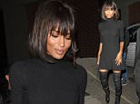 23.SEPTEMBER.2015 - LONDON - UK CIARA SEEN ARRIVING AT LIBERTINE CLUB IN LONDON FOR THE CLOSING PARTY. NIGHTCLUB TOASTS LONDON FASHION WEEK WITH A PARTY, HOSTED BY CIARA. BYLINE MUST READ : XPOSUREPHOTOS.COM ***UK CLIENTS - PICTURES CONTAINING CHILDREN PLEASE PIXELATE FACE PRIOR TO PUBLICATION *** **UK CLIENTS MUST CALL PRIOR TO TV OR ONLINE USAGE PLEASE TELEPHONE 44 208 344 2007**