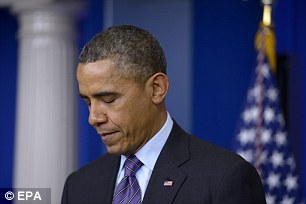 Hammer blow: Bad weather during much of the winter months interrupted the Obama recovery
