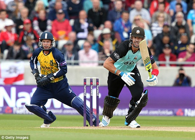 Pietersen (right) rejoined Surrey  after incoming ECB chairman Colin Graves said domestic form would help