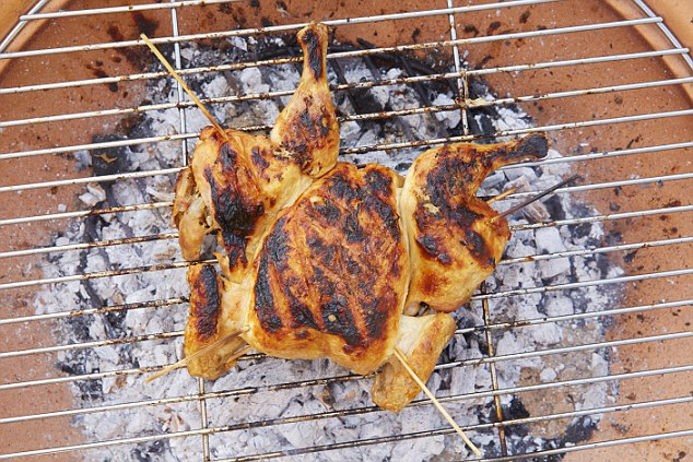 The resulting chicken - pictured above - is 'utterly delicious'