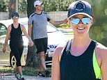 UK CLIENTS MUST CREDIT: AKM-GSI ONLY\nEXCLUSIVE: Santa Monica, CA - Cute couple Reese Witherspoon and Jim Toth take a break from parenthood and enjoy some exercising together.\nCREDIT MUST READ: FameFlynet/AKM-GSI\n\nPictured: Reese Witherspoon and Jim Toth\nRef: SPL1134353  220915   EXCLUSIVE\nPicture by: AKM-GSI / Splash News\n\n
