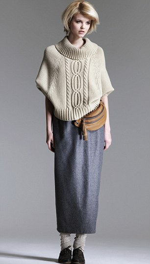 Tend spotting: Long skirts, brogues and knitwear sales are soaring at Debemhams as 'granny chic' is all the rage