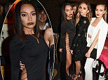 LONDON, ENGLAND - SEPTEMBER 24:  (L to R) Leigh-Anne Pinnock, Jade Thirlwall and Perrie Edwards of Little Mix attend Annabel's for an intimate dinner and exclusive performance with Selena Gomez at Annabel's on September 24, 2015 in London, England.  \nPic Credit: Dave Benett