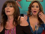 """****Ruckas Videograbs****  (01322) 861777 *IMPORTANT* Please credit Channel 5 for this picture. 23/09/15 Celebrity Big Brother's Bit On The Side (2015) - last night (22/09/15), Channel 5 SEEN HERE: Grabs of Aisleyne and Farrah before their fight, where they argued as Vicki Michelle sat between them. Aisleyne called Farrah a """"silly little girl"""" adding she """"nasty"""" and told her to """"f*ck off"""". Farrah then mocked Aisleyne for only appearing on the normal Big Brother. Rylan mopped his brow after things got heated. Grabs leading up to last night's broadcast being suspended after it is alleged Aisleyene Horgan-Wallace threw a champagne glass at Farrah Abraham. The footage saw Farrah saying """"Hag, be quiet"""" before Aisleyne reached for her glass of Champagne. The show then was briefly suspended, with viewers left watching a CBB graphic. Host Rylan Clark then returned and said they unfortunately had to lose the panel. It is reported that panelist Vicki Michelle was injured following the incident."""