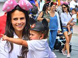 EXCLUSIVE: Jordana Brewster and her Husband spend a great day with her son Julian Form Brewster. Also along on their fun day was Jordana's mother Maria Joao who has a striking resemblance to Jordan. Isabella Brewster, Jordana's sister who is heavily pregnant were also joined by her husband Baron Davis and their son. \nThe happy family were seen having a great time at Disneyland riding all the rides including Alice in wonderland, the Astro Orbitors and the Jungle Cruise. Jordana, her sister and mother all doned mickey ears for the outing and big smiles on their faces.\n\nPictured: Jordana Brewster, Julian Form Brewster, Baron Davis, Isabella Brewster, Maria Joao\nRef: SPL1134642  220915   EXCLUSIVE\nPicture by: Fern / Splash News\n\nSplash News and Pictures\nLos Angeles: 310-821-2666\nNew York: 212-619-2666\nLondon: 870-934-2666\nphotodesk@splashnews.com\n
