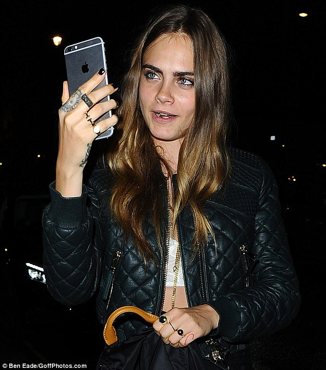FaceTime! They say Cara checked in with her pal Selena Gomez as she left the party