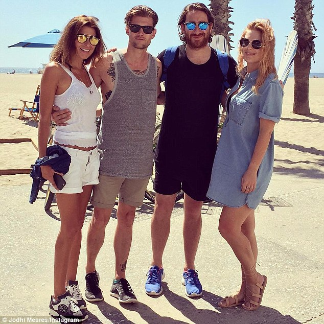 Worlds colliding: The Australian fashion designer has met Nick's friends, which include blogger Lisa Hamilton