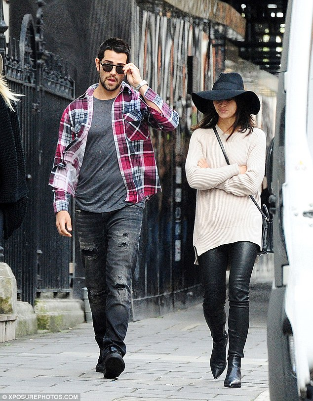 Trend followers: Cara Santana and Jesse Metcalfe out and about in London on Monday