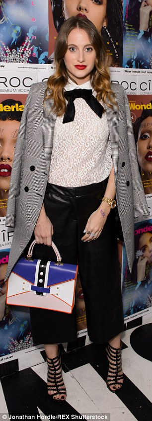 Sophisticated: Rosie Fortescue looked demure in her chic ensemble