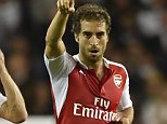 """Football - Tottenham Hotspur v Arsenal - Capital One Cup Third Round - White Hart Lane - 23/9/15  Mathieu Flamini celebrates after scoring the first goal for Arsenal  Reuters / Toby Melville  Livepic  EDITORIAL USE ONLY. No use with unauthorized audio, video, data, fixture lists, club/league logos or """"live"""" services. Online in-match use limited to 45 images, no video emulation. No use in betting, games or single club/league/player publications.  Please contact your account representative for further details."""